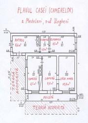 Casa,  s. Medeleni,  r-l Ungheni,  2500 euro